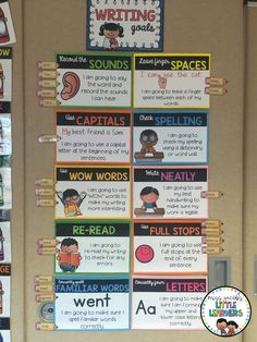 Writing Goal Posters Miss Jacobs Little Learners Visible Learning and how to display your students learning targets in the classroom