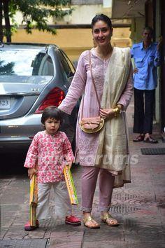 Kareena Kapoor Khan, Karisma Kapoor & Taimur Ali Khan flaunt shades of pink on Diwali; See Pics Bollywood Outfits, Bollywood Dress, Bollywood Fashion, Indian Attire, Indian Wear, Indian Outfits, Pakistani Fashion Casual, Pakistani Dresses Casual, Designer Party Wear Dresses