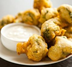 Beer-Battered Broccoli Bites