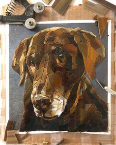 Mosaic Crafts, Mosaic Art, Mosaic Portrait, Mosaic Animals, Mosaic Patterns, Dog Portraits, Dog Art, Decoration, Craft Gifts
