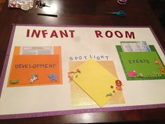 Looking for something new to add to your childcare infant room? Make a parent info board! Spotlight birthdays and milestones, add Center and community events and quality information on infant development!