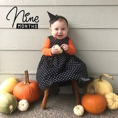 Pumpkins come and pumpkins go  but A Jack-O-Lantern steals the show  I WITCH you  a Happy Halloween  @jlindan thanks for sharing #9months  with our 'Milestones' artwork  TO BE FEATURED HERE  tag photos made with @BabyStoryApp #BabyStoryApp