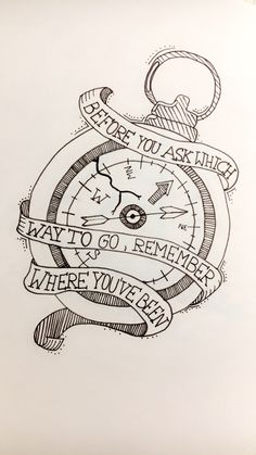 compass - before you ask which way to go, remember where you've been.