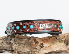 Personalized Dog Collar Custom Dog Collar by JandBCustomLeather