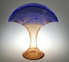 An Art Glass Threaded Vase