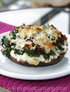 Stuffed-Portobello-Mushrooms, use the vegan versions of cheeses. Recently pinned a homemade vegan ricotta recipe