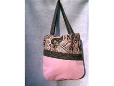 Pink Twill Tote Bag