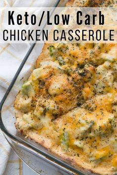 This simple Low Carb Chicken Casserole is packed full of delicious chicken, broccoli, and cheese. The entire family will enjoy. This simple Low Carb Chicken Casserole is packed full of delicious chicken, broccoli, and cheese. The entire family will enjoy. Healthy Diet Recipes, Low Carb Recipes, Keto Diet Meals, Cheap Recipes, Diet Foods, Keto Meal, Keto Snacks, Healthy Eating, Crock Pot Recipes