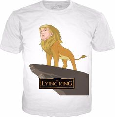 Donald Trump Lying King Lion Parody Novelty Tee T-Shirt Clothing Mens Womens