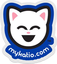 "Kute Kitty™ 3"" Die-Cut Clear Vinyl Sticker. Kute Kitty™ the face of Katio™ on high quality clear vinyl – the purrfect window kitty sticker for all your window kitty sticker needs! $5 #KuteKitty #Katio #kawaii #kitty #Cat http://mykatio.com/store"