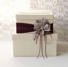 Wedding Card Box Wedding Money Box Gift Card by jamiekimdesigns, $103.00