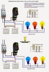 Esquemas eléctricos: Temporizador tres  y cuatro hilos