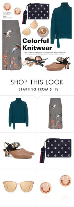 """Cover Story: THE KNITWEAR EDIT/Colorful!"" by ifchic ❤ liked on Polyvore featuring Carven, Stella Jean, Rachel Comey, Le Specs Luxe and contemporary"