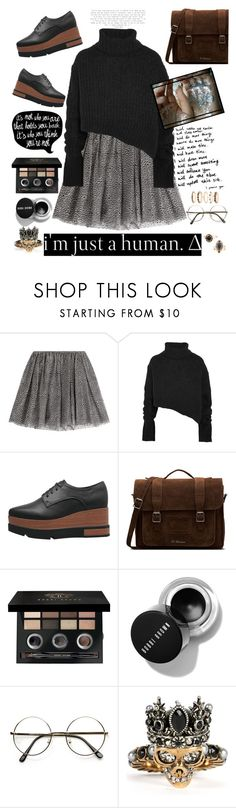 """""""I don't trust nobody and nobody trust me..."""" by she-fashionlove ❤ liked on Polyvore featuring RED Valentino, Ann Demeulemeester, Dr. Martens, xO Design, Bobbi Brown Cosmetics and Alexander McQueen"""