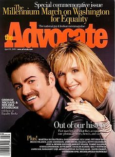 George Michael and Melissa Etheridge forThe Advocate, April 30, 2000 (Special Commerative Issue). Photo Editor/Session Producer: Michael Matson