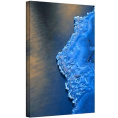 Dean Uhlinger Ice On The Merced Yosemite Gallery-Wrapped Canvas, Size: 18 x 24, Yellow