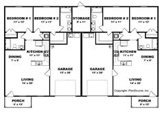 Small House Plan Design Duplex Unit You Though It S Has All The Function Of A Decent Home Description From Joystudiodesign Com I. Duplex Floor Plans, Garage Floor Plans, Small Floor Plans, Bedroom Floor Plans, House Floor Plans, The Plan, How To Plan, Duplex Design, Multi Family Homes