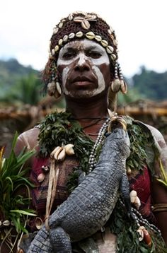 "Papua New Guinea | ""Sepik crocodile sing-sing"". | ©Richard Notebaart"