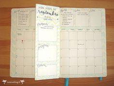 Monthly Log Bullet Journal Septembre #4