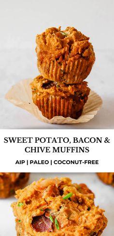 Savory Sweet Potato Recipes, Sweet Potato Bread, Sweet Potato Muffins, Savory Muffins, Sweet Potato Breakfast, Paleo Breakfast, Breakfast Recipes, Le Chef, Autoimmune Paleo