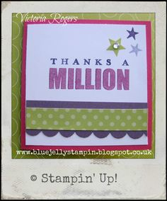 Stampin_Up_Word_Play simple 3x3 card to make quick gift set of 20