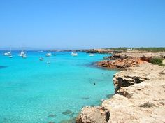 Cala Saona- Formentera (Spain)  ✈✈✈ Don't miss your chance to win a Free International Roundtrip Ticket to Ibiza, Spain from anywhere in the world **GIVEAWAY** ✈✈✈ https://thedecisionmoment.com/free-roundtrip-tickets-to-europe-spain-ibiza/