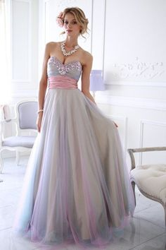 Sparkletini 3842 Jeweled Tulle Ball Gown - Prom Dress. Complementary colors of…