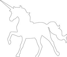 Unicorn Outline, Unicorn Stencil, Animal Outline, White Unicorn, Unicorn Sketch, Unicorn Drawing, Unicorn Art, Horse Pattern, Unicorn Pattern
