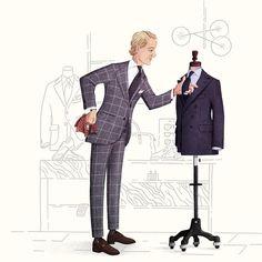 Red Wine Drinks, Drake London, Fashion Art, Mens Fashion, Suit And Tie, Gentleman Style, Cartoon Styles, Fashion Sketches, Akira
