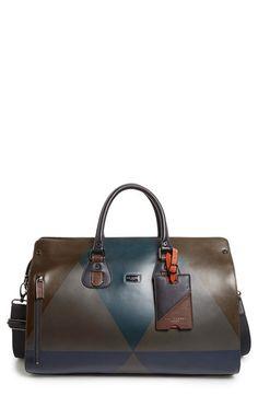 Ted Baker London 'Harlequin' Leather Duffel Bag