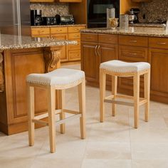 Counter Stool Set Bar Seat Wooden Furniture Backless Stools Christopher Knight
