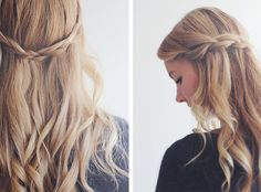 fletning i løst hår