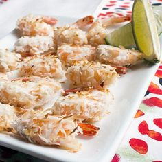 Lime and coconut go together like peanut butter and jelly! This sweet and zesty combo deliver a one-two punch of delicious! Instead of deep frying the shrimp, my recipe keeps the crunch while tossing these in the oven and baking instead!