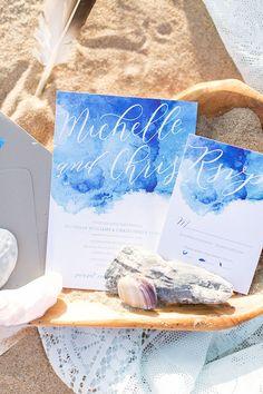 watercolor invitation | Amanda Hedgepeth Photography | Glamour & Grace