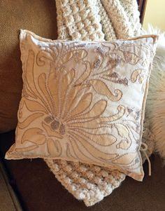 Alabama Chanin Magdalena Throw Pillow - Gather & Make