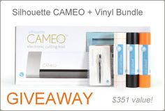 Silhouette CAMEO giveaway!! plus discount code