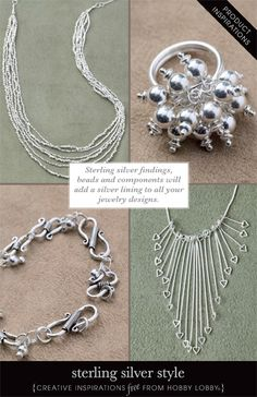 Sterling silver findings, beads and components will add a silver lining to all your jewelry designs.