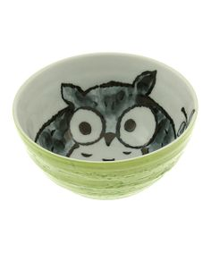 Little ones and adults will delight in this bowl that's completely kawaii, or absolutely adorable. Owl-inspired graphics combine with Japanese-made ceramic for a piece that's too sweet to believe.