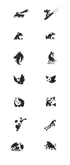 Vintage Logo Animal Design Ideas For 2019 Tatoo Geek, Logo Animal, Icon Design, Web Design, Bird Design, Retro Design, Doodle Drawing, Deer Drawing, Negative Space Logos