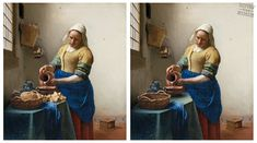 Gluten-free art d'après Johannes Vermeer