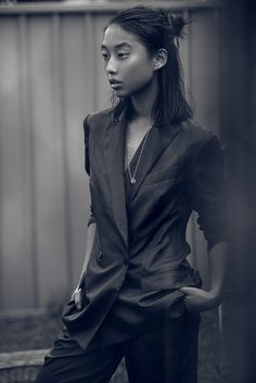 I love the ease of this suit. Worn by Margaret Zhang of Shine by Three.