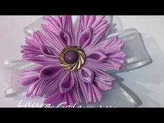 Венок из цветов ободок Мастер класс канзаши венок своими руками DIY wreath with flowers kanzashi - YouTube