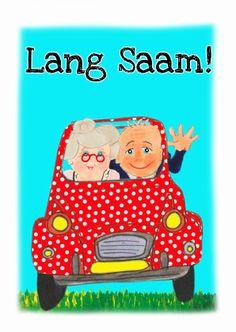 Jubileum Lang Saam, huwelijks jubileum verkrijgbaar bij #kaartje2go voor € 1,89
