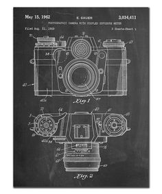 Love this Camera With Lens Patent Print on #zulily! #zulilyfinds