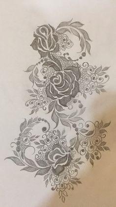 Mehndi Design Pictures, Mehndi Art Designs, Mehndi Images, Henna Tattoo Designs, Machine Embroidery Patterns, Hand Embroidery Designs, Embroidery Art, Henna Doodle, Menhdi Design
