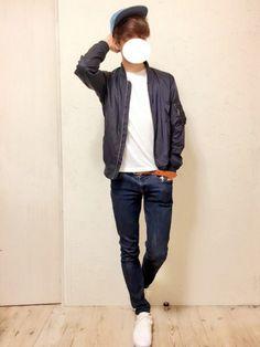 AsahiさんのTシャツ/カットソー「nano・universe wjk 1mile/ 別注 Crew Tee SS」を使ったコーディネート