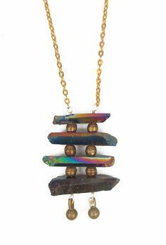 Rainbow Pagoda Necklace