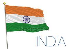 Bandiera india isolato su sfondo bianco — Vettoriali  Stock © frizio #91661974