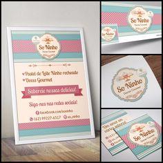 Criação de Logotipo para Confeitaria. Capa de Facebook para Confeitaria. Cartão de Visitas para Confeitaria. Tag para Confeitaria. Banner para Confeitaria.