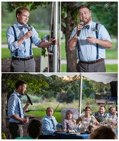 Wedding toasts in the Prairie Garden Canopy at Denver Botanic Gardens at Chatfield wedding reception. - April O'Hare Photography http://www.apriloharephotography.com #ChatfieldBotanicGardens #DenverBotanicGardensChatfield  #ColoradoWedding #DenverWedding #ColoradoRusticWedding #ColoradoGardenWedding